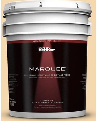 BEHR MARQUEE 5 gal. #330C-3 Clam Chowder Flat Exterior Paint and Primer in One