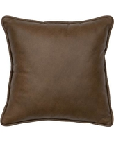 Wooded River Caribou Leather Throw Pillow WD80230