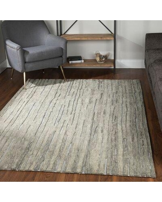 27 Off Wrought Studio Maskell Handmade Tufted Wool Silver Area Rug X113618270 Rug Size Rectangle 5 X 8