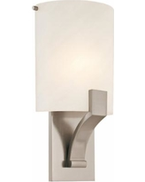 "Sonneman Greco 14""H Satin Nickel Fluorescent Wall Sconce"