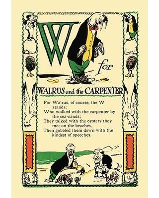 Buyenlarge W for Walrus and the Carpenter by Tony Sarge Vintage Advertisement 0-587-07443-4