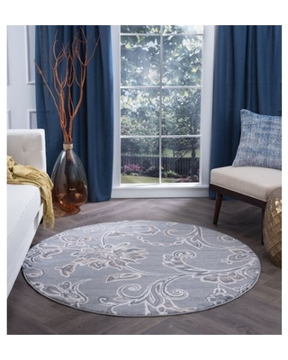 Bliss Rugs Crawford Transitional Indoor Round Area Rug