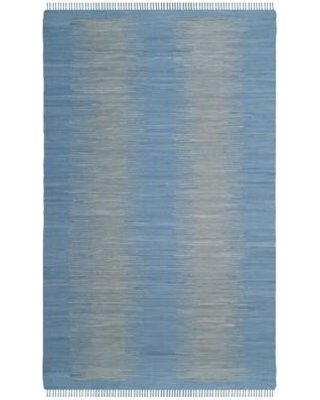 Highland Dunes Cayman Handwoven Cotton Blue/Gray Area Rug HLDS3953 Rug Size: Rectangle 5' x 8'