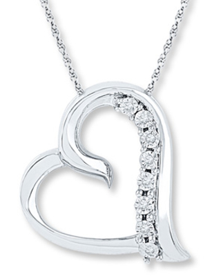 8f21bdd89 Check out some Sweet Savings on Diamond Heart Necklace 1/20 ct tw ...