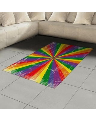 Pride Purple Area Rug East Urban Home Rug Size: Rectangle 4' x 5'8""