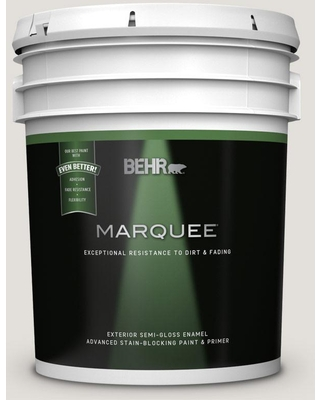 BEHR MARQUEE 5 gal. #MQ3-33 Creme De La Creme Semi-Gloss Enamel Exterior Paint and Primer in One