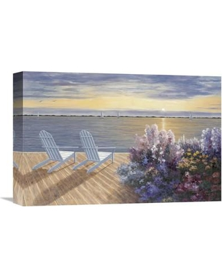 """Global Gallery 'Deck View' by Diane Romanello Painting Print on Wrapped Canvas GCS-128654 Size: 16"""" H x 24"""" W x 1.5"""" D"""