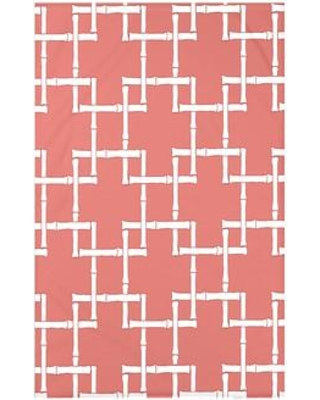 """Bay Isle Home Connelly Bamboo Geometric Fleece Throw BAYI3260 Size: 60"""" L x 50"""" W x 0.5"""" D Color: Coral"""