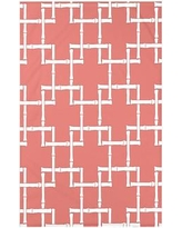 """Bay Isle Home Connelly Bamboo 1 Geometric Fleece Throw Blanket BAYI3260 Size: 60"""" L x 50"""" W x 0.5"""" D, Color: Coral"""