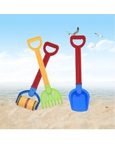 Milty Sand Toys For Toddlers Age 3-8 Toddler Toys Plastic Sand Shovels w/ Plastic Spade Handle Three Piece Suit Gift Set | Wayfair