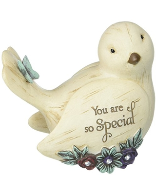 Pavilion Gift Company 41105 Decorative Special Floral Bird Figurine 3.5 Inch