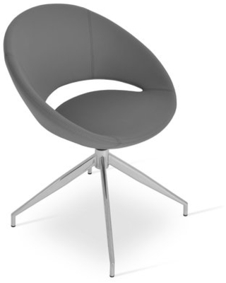 Crescent Upholstered Side Chair in Gray sohoConcept
