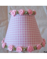 "Silly Bear Gardens of Gingham 11"" Fabric Empire Lamp Shade LS-084 Shade Color: Pink"