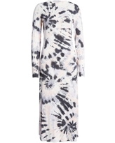 Fourteenth Place Tie Dye Long Sleeve Maxi Dress, Size X-Small in Blush Spiral Tie Dye at Nordstrom