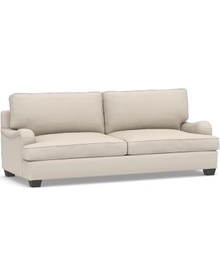 Pb English Arm Upholstered Grand Sofa 90 Polyester Wred Cushions Performance Brushed Basketweave