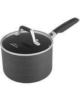 Select by Calphalon 2.5 Quart Hard-Anodized Non-stick Saucepan with Cover, Silver