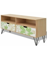 """East Urban Home Lizzie TV Stand for TVs up to 50"""" Wood/Metal in Brown, Size 19.69 H x 47.24 W x 11.81 D in 
