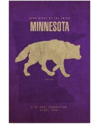 """Wrought Studio 'State Animal Minnesota' Graphic Art Print on Wrapped Canvas WRSD2199 Size: 19"""" H x 12"""" W x 2"""" D"""