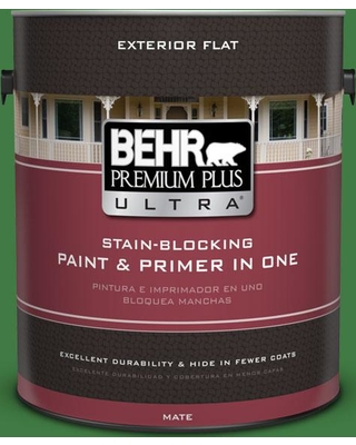 BEHR ULTRA 1 gal. #M390-7 Hills of Ireland Flat Exterior Paint and Primer in One