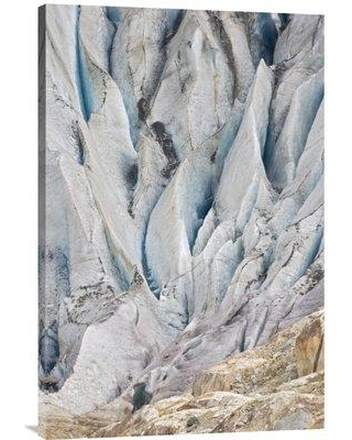 """East Urban Home 'Altesch Glacier Valais Bernese Alps Switzerland' Photographic Print EAAC8239 Size: 30"""" H x 20"""" W Format: Wrapped Canvas"""