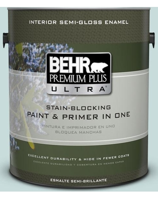 BEHR ULTRA 1 gal. #S440-1 Sunken Pool Semi-Gloss Enamel Interior Paint and Primer in One