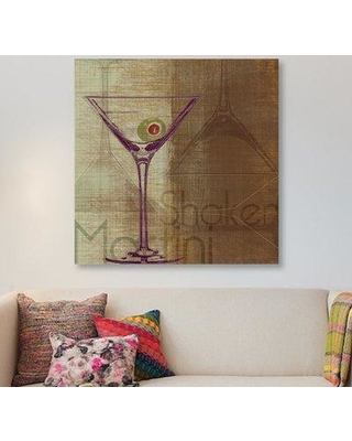 """East Urban Home 'Shaken' Graphic Art Print on Wrapped Canvas ESRB9211 Size: 12"""" H x 12"""" W x 1.5"""" D"""