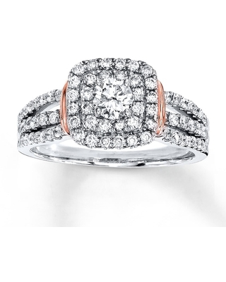 Jared Diamond Engagement Ring 1 ct tw Round-cut 14K Two-Tone Gold