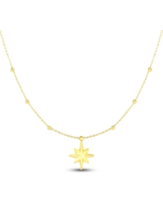 Jared The Galleria Of Jewelry Star Necklace 14K Yellow Gold