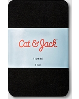 Toddler Girls' Solid Opaque Tights Cat & Jack - Black 2T-3T