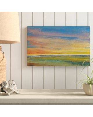 """Highland Dunes 'Fading Light I' Acrylic Painting Print on Wrapped Canvas HGLN1974 Size: 12"""" H x 19"""" W x 2"""" D"""