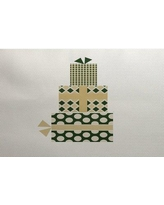 The Holiday Aisle Green Indoor/Outdoor Area Rug THLA6883 Rug Size: Rectangle 3' x 5'