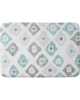 "Social Proper Quiet Ikat Cushion Bath Mat (36""x24"") Blue - Deny Designs"