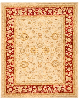 Ivory/Red Floral Tufted Area Rug 6'X9' - Safavieh