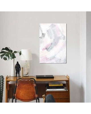"East Urban Home 'Neutral Breeze II' Print on Canvas EBHS4643 Size: 40"" H x 26"" W x 0.75"" D"