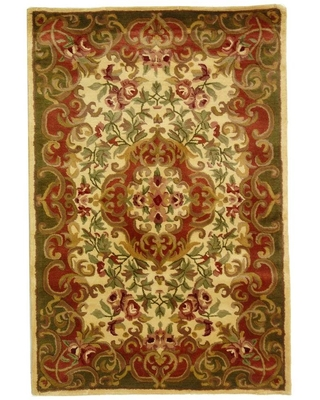 Safavieh Classic Ivory/Green 4 ft. x 6 ft. Area Rug