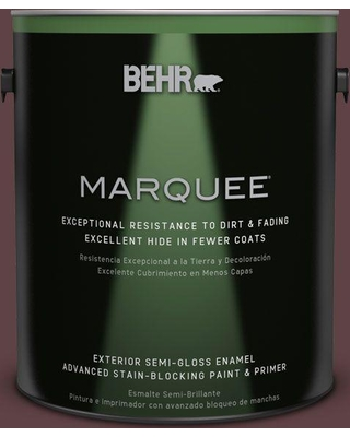 BEHR MARQUEE 1 gal. #S-G-700 Wild Raisin Semi-Gloss Enamel Exterior Paint and Primer in One