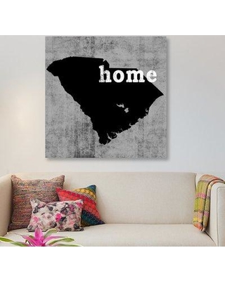 "East Urban Home 'This is Home Series: South Carolina ' Graphic Art Print on Canvas ESUR9199 Size: 12"" H x 12"" W x 0.75"" D"
