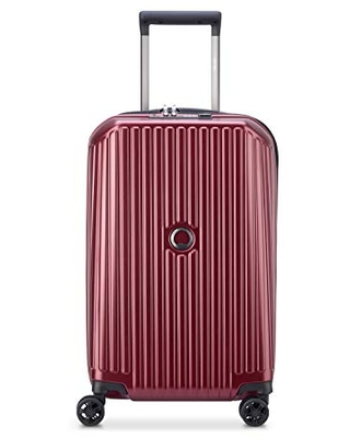 DELSEY Paris Securitime Expandable Luggage with Spinner Wheels, Maroon, Carry-On 19 Inch
