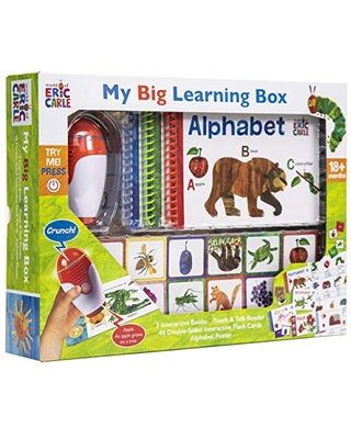 World of Eric Carle, My Big Learning Box Set - Educational Touch & Talk Reader with 3 Interactive Books, 48 Flashcards, and Poster - PI Kids