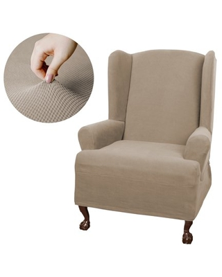 Zenna Home Pixel Stretch Furniture Cover/Slipcover Wing, 1 -Piece