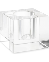 Clear Crystal Block Vase, Large, Square