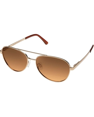 Suncloud Callsign Polarized Sunglasses - One Size - Rose Gold / Brown Gradient Polarized