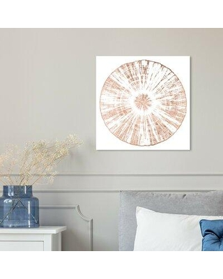 """House of Hampton® 'Cuore Legno Rose Gold' Graphic Art Print X113204186 Format: Wrapped Canvas Size: 16"""" H x 16"""" W x 2"""" D"""