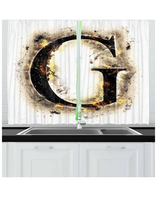 2 Piece Letter G Kitchen Curtain East Urban Home