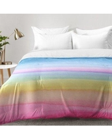 East Urban Home Rainbow Ombre Comforter Set EAHU7465 Size: King