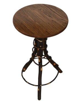 Millwood Pines Brammer Solid Wood Pedestal End Table X113714307 Table Top Color: Rustic