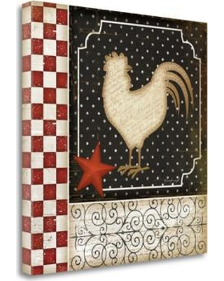 Tangletown Fine Art 'Rooster Country III' by Jennifer Pugh Graphic Art on Wrapped Canvas SBJP4662-2020c