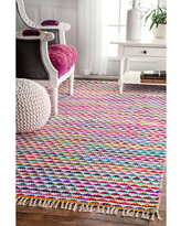 nuLoom Flatweave Rainbow Albina Rug, One Size , Multiple Colors