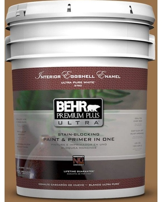 BEHR ULTRA 5 gal. #PPU4-17 Olympic Bronze Eggshell Enamel Interior Paint and Primer in One