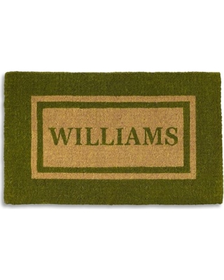 Double Border Doormat, Large, Green